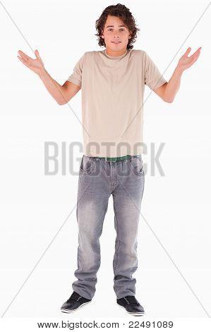 Clueless Man Posing