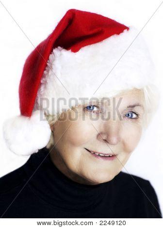 Senior Santa Woman