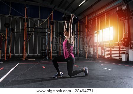 Determined athletic girl
