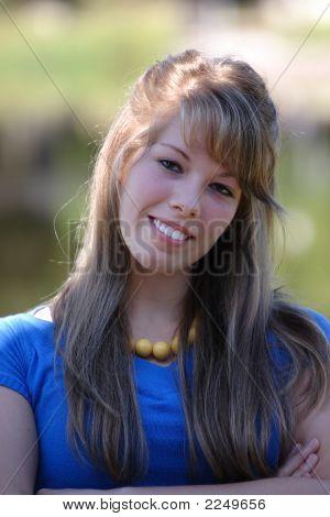 Pretty Teenage Girl Close Up