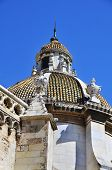 image of lightning-rod  - A view of the dome of the Tarragona Cathedral - JPG