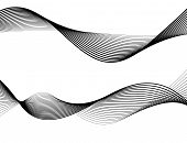 Design Element Wave Many Parallel Lines Wavy Form29 poster