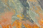 foto of lithosphere  - Closeup of a flagstone of shale for decoration .