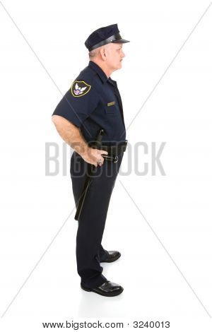 Police Officer Full Body Profile