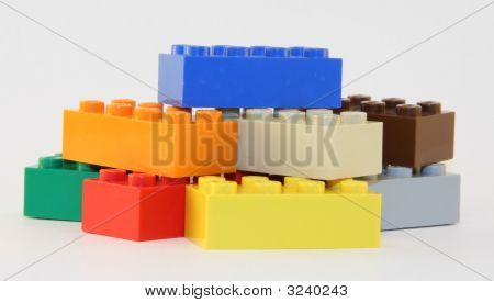 Colored Block Pile