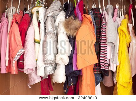 Wardrobe with child clothes