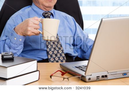Working Mature Businessman
