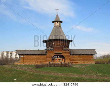 Russia, Moscow. Manor Kolomenskoe. The tower Nicholas Korelsky monastery.