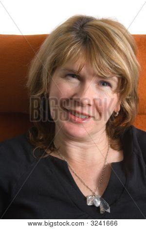 Smiling Attractive Mature Woman