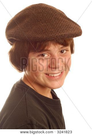 Thirteen Year Old Boy Wearing Flat Cap