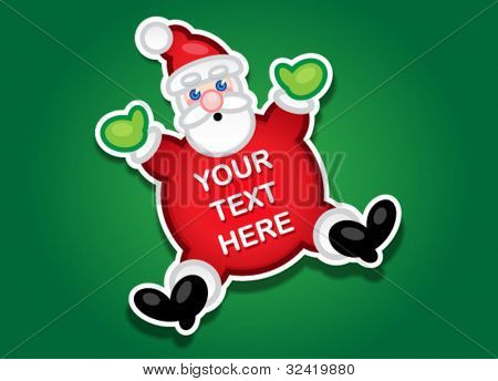Santa Claus Vector Sticker