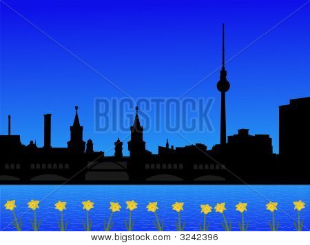 Berlin Skyline In Spring