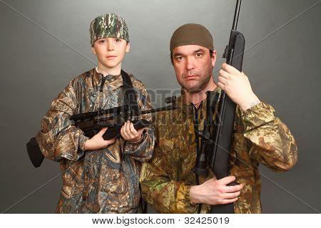 O menino e o homem adulto