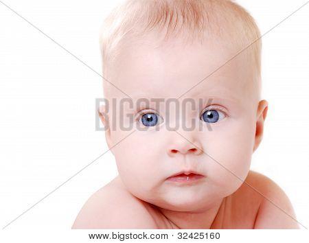 Heartwarming Portrait Of A Baby Girl