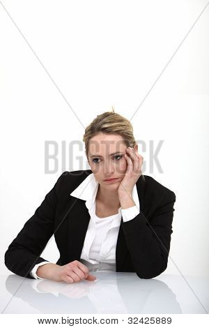 Business Woman Looking Depressed