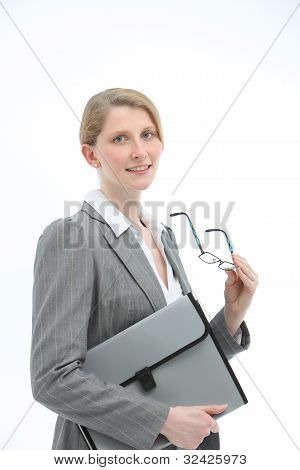 Dedicated Secretary With Folio File