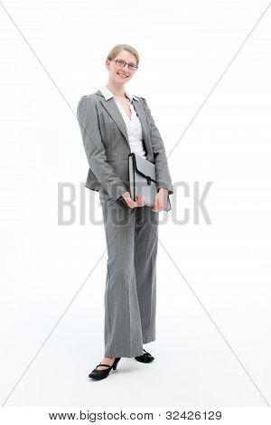 Smiling Businesswoman Full Length