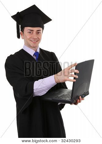 Graduate With Laptop