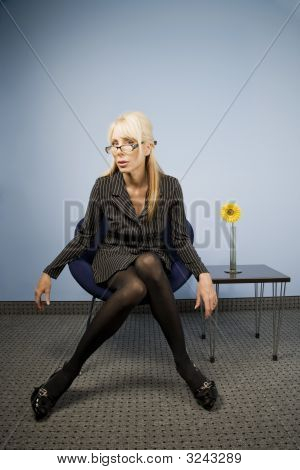 Businesswoman Akimbo