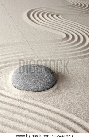 spiritual meditation background Japanese zen garden pebble and sand concept for purity wellness therapy and spa treatment