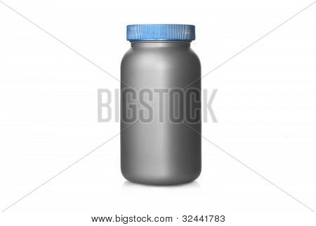 Gray Plastic Can