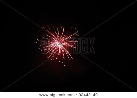 red explosion at a fireworks