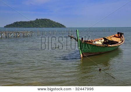 Fisherman Boat At Rabbit Island