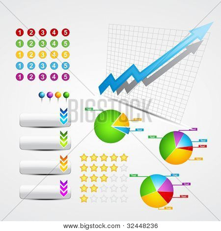 vector set of useful business and web elements