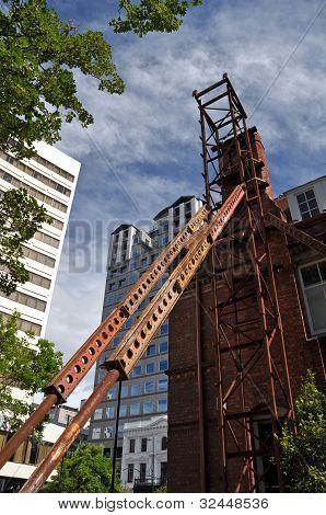 Terremoto de Christchurch - el edificio de cámaras provinciales de ahorro.