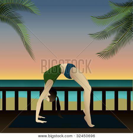 Yogi On Beach (upward Bow)