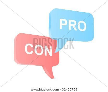 Pro And Con Arguments. Vector Illustration