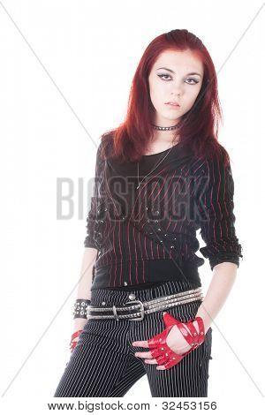 girl nonconformist isolated