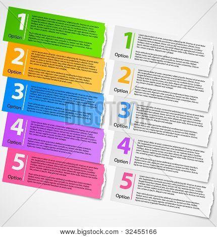 Torn paper progress option background