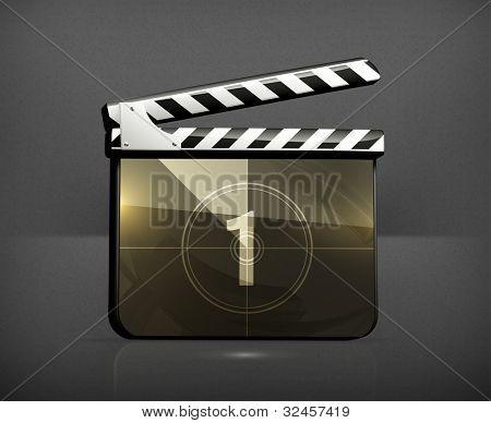 Movie clap, vector