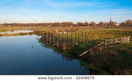 Dutch Landscape In Autumn