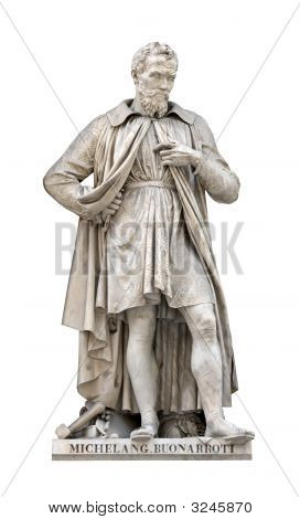Michelangelo Buonarroti Statue Cutout