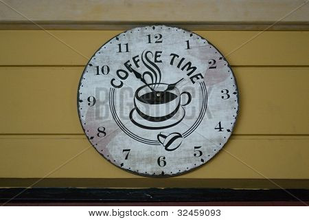 Old coffee time clock