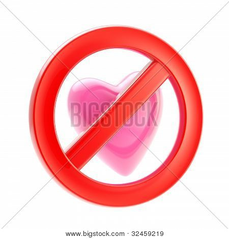 Forbidden not allowed love sign