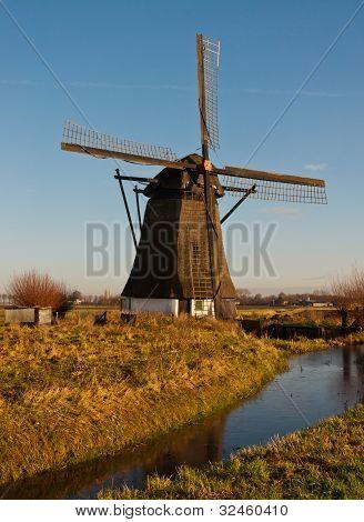 Windmill De Oude Doorn In The Dutch Village Of Almkerk