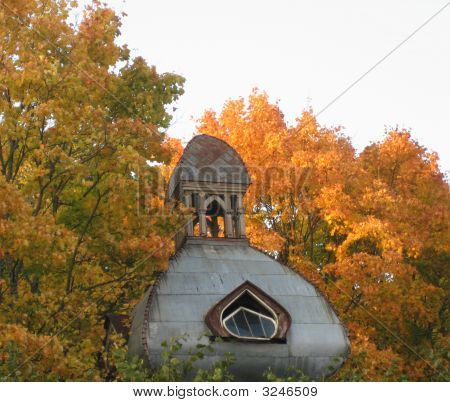 Building With Autumn Leaves