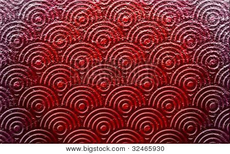 Red tred embossed concentric pattern