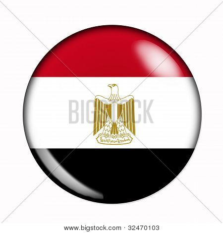 Button Flag Of Egypt