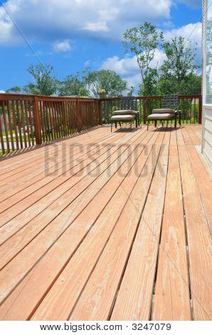 Wood Plank Deck