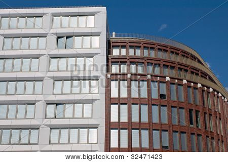 New modern buildings in Berlin