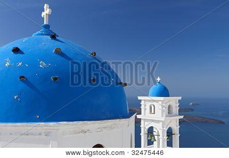 Santorini island in Greece