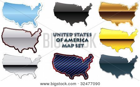 USA map set