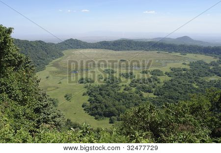 Panoramic View Over Arusha National Park