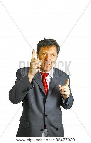 Business Man holding eine Rede