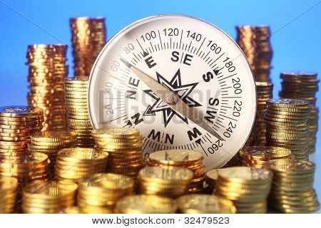 stacks of the coin and the compass