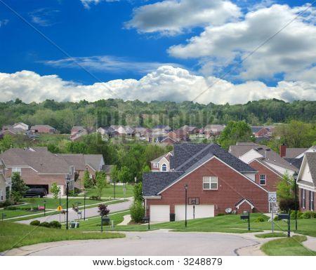 Brick Suburban Homes